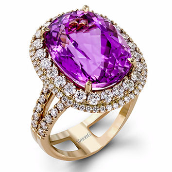 Simon G. 18K Rose Gold Ring Featuring a 12.06 Carat Kunzite