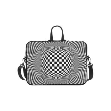 Personalized Laptop Shoulder Bag Optical Illusion Checkers Microsoft Surface Pro 3/4 Inch