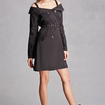 Open-Shoulder Trench Coat
