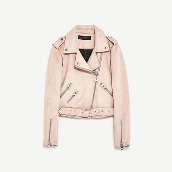 JACKET WITH ZIPS DETAILS