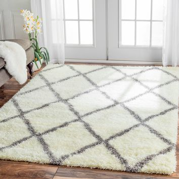 nuLOOM Rug Moroccan Trellis Shag Rug (5'3 x 7'6) | Overstock.com Shopping - The Best Deals on 5x8 - 6x9 Rugs