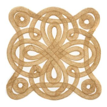 Medallion Sinamay Placemat - S/2 Gold