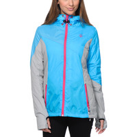 Volcom Girls Nyala Blue & Grey Insulated Jacket at Zumiez : PDP