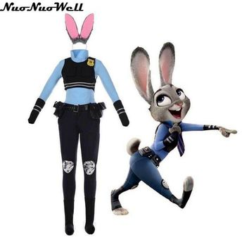 Judy Rabbit Judy Policewoman Cosplay Costumes Halloween Costumes Zootopia Cartoon Clothing for Party Performance