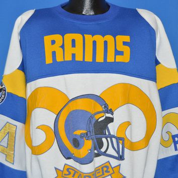 90s Los Angeles Rams NFL All Over Sweatshirt Extra Large