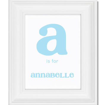 Personalized Children Alphabet Letter and by TheStationerySisters