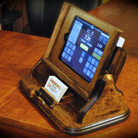 "The iPad ""Flip"" Square register style docking station"