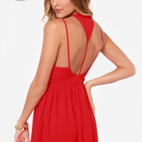 LULUS Exclusive L.A. Lady Red Dress