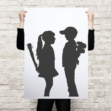 Banksy street art print  poster A3 / A2 / A1 printed on paper or canvas