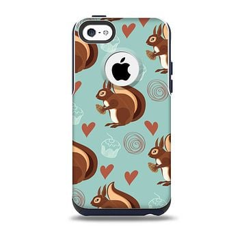 The Vector Love & Nuts Squirrel Skin for the iPhone 5c OtterBox Commuter Case