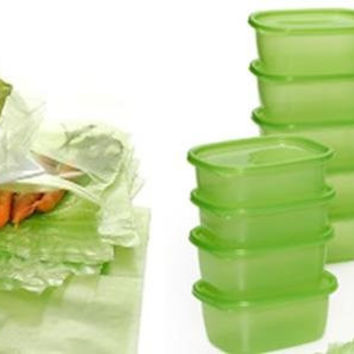 74 Piece Greenbox Green bag Keep Fresh Food Produce Storage Containers And Green Bag Set