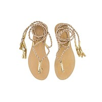L*Space By Cocobelle - Gili LONG Wrap Sandal | Sand