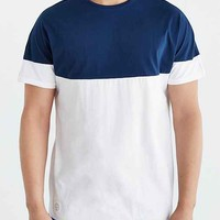 Native Youth Curved Yoke Colorblocked Tee- White