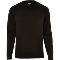 River Island MensBlack basic long sleeve sweatshirt