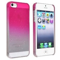 EVERMARKET(TM)Clear Hot Pink Waterdrop Raindrop Hard Case compatible with Apple® iPhone® 5 / 5S