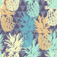 Pineapple on Triangle Removable Wallpaper