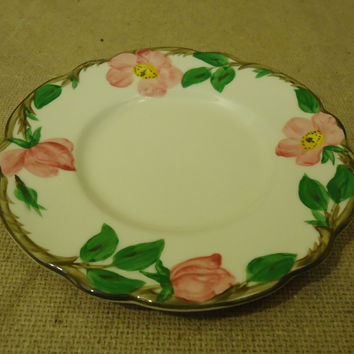 Franciscan Vintage Bread Butter Plate 6 3/8in Floral Desert Rose California China -- Used