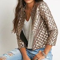 Geo-Patterned Sequin Jacket