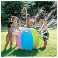 Little Tikes Beach Ball Sprinkler Water Pool Toy NEW