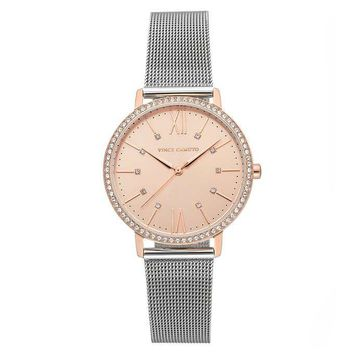 Women's Vince Camuto Silver Tone Stainless Steel Mess Strap Watch
