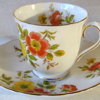 Tuscan English China Tea Cup Petite Floral