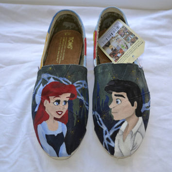 "Custom Disney TOMS - ""The Little Mermaid: Kiss the Girl"""