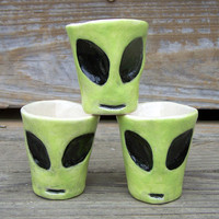 Alien Shot Glasses - Ready to Ship