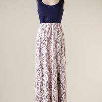Romantic Notions Maxi Dress - Navy and Blush - Hazel & Olive