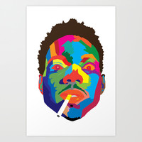 Chance The Rapper Colorblock Art Print by Dailygray