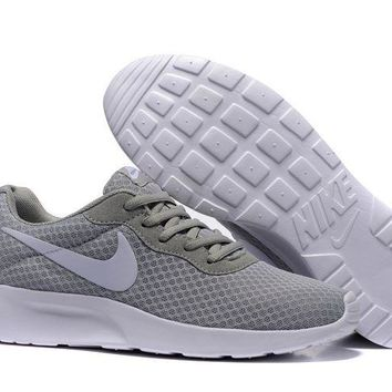 Nike Roshe Run Sport Casual Shoes Sneakers Gray Size 36-44