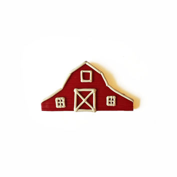 Red Barn Magnet - Farm Magnet - Polymer Clay Magnet - Red Magnet - Kitchen Magnet - Refridgerator Magnet - Fridge Magnet