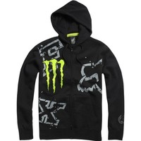 Fox Racing Monster Ricky Carmichael Replica Downfall Men's Hoody Zip Racewear Sweatshirt/Sweater - Black / Medium