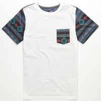 Blue Crown New Tribe Boys Pocket Tee White  In Sizes