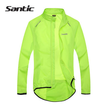 SANTIC Mens Waterproof Cycling Jackets Long Sleeve Road MTB Bike Rain Coat Fixed Gear Downhill Jersey Clothing Culotte Ciclismo