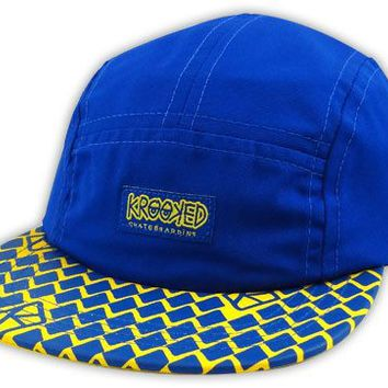Krooked Diamond Cap 5 Panel Hat Blue