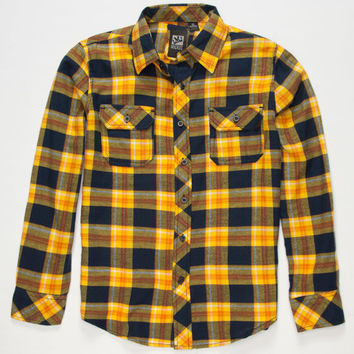 Micros Shasta Boys Flannel Shirt Yellow  In Sizes