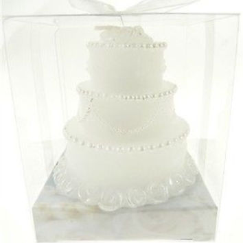 Wedding Bridal Shower Anniversary Party Favor Souvenir Gift Keepsake Ready Made, Cake Candle