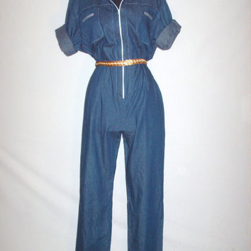 Vintage Early 80s Denim Jumpsuit