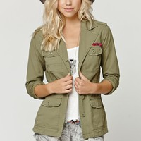 Billabong Off The Record Army Jacket - Womens Jacket - Green