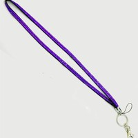 Rhinestone Crystal Bling Badge Id Holder Key Lanyard PICK A COLOR!!! (Purple)