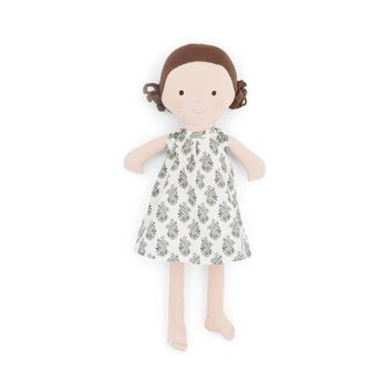 Louise Organic Girl Doll by Hazel Village - Liberty of London Dress