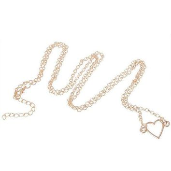 ac PEAPO2Q New IPC Sexy Women Waist Chain Sweet Heart Star Belly Aolly Plated Personality Body Fashion Jewelry