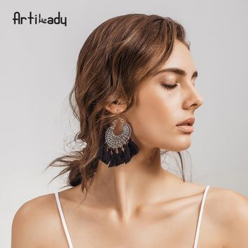 Artilady fashion boho tassel earring vintage bohemia women jewelry new year gift dropshipping