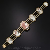 Antique Hard Stone Cameo Bracelet - Victorian Jewelry - Shop for Jewelry