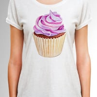 Cupcake shirt - Desert Shirt - Women Summer Shirt - Fairy Cake Shirt - Daughter Gift - Funny Shirt - Gift for Her