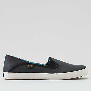 Keds Crashback Leather Shoe, Black