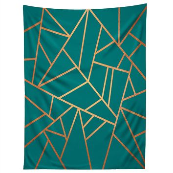 Elisabeth Fredriksson Copper and Teal Tapestry