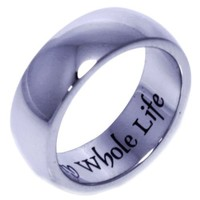 MY WHOLE HEART FOR MY WHOLE LIFE - Inspirational Jewelry - Poesy Ring - High quality etched stainless steel ring. Hypo-allergenic. Inspirational Relationship Jewelry Wedding Band / Wedding Ring / Promise Ring. SIZE 7