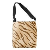 Beige Brown Tiger Skin Pattern Tote Bag