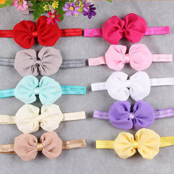 Lovely Cute Kids Girls Headband Baby Toddler Flower Hair Bow Band MO.LS